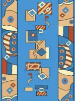 Ковровая дорожка Бриз 30440-02 Синяя