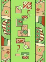 Ковровая дорожка Бриз 30440-03 Зеленая